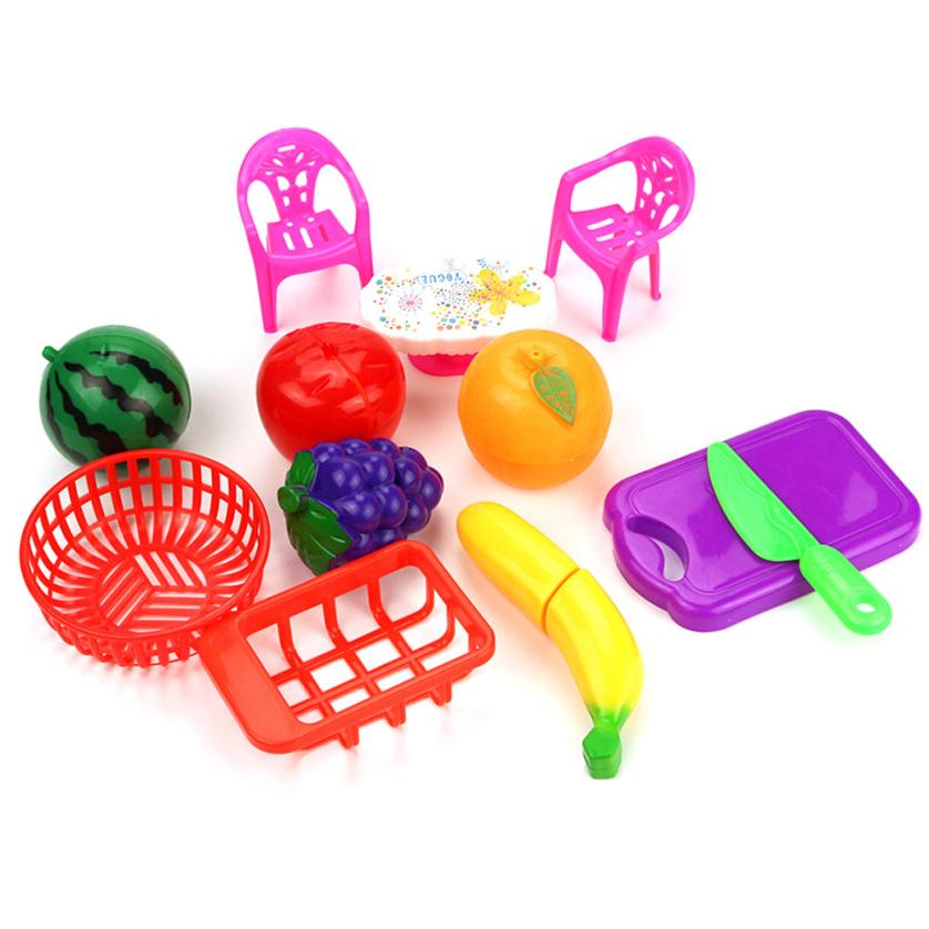 13PC Cutting Fruits Vegetables Pretend Play Children Kids Gift Educational Toy L213