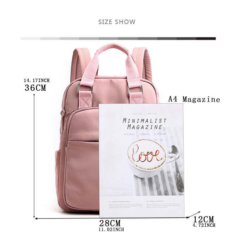 Female travel backpack cute backpacks Hot college Zipper None Solid Pink Retro teenage backpacks for girls mochila bookbag in Backpacks from Luggage Bags