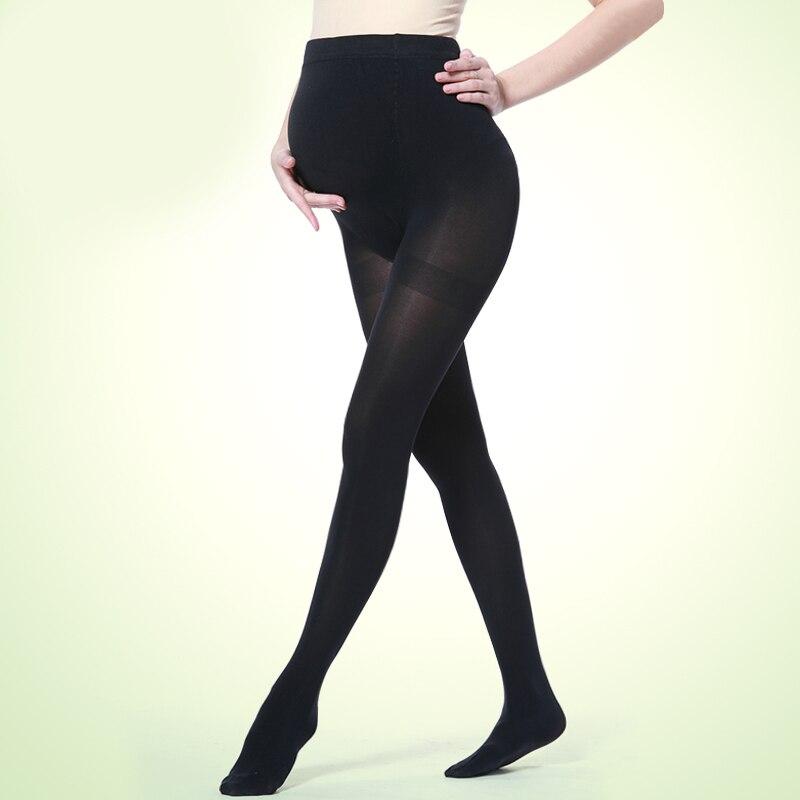 2018hög kvalitet 120D sammet Justerbar Hög elastisk moderskap leggings gravida klädbyxor för kvinnor strumpor