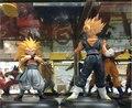 Dragon Ball Z Super Saiyan Goku + Gotenks Ação PVC Figuras Colecionáveis Brinquedos Modelo 2 pçs/set KT2292