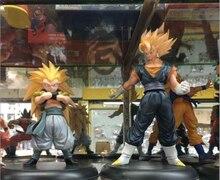 Dragon Ball Z Супер Саян Сон Гоку + Gotenks ПВХ Фигурки Коллекционная Модель Игрушки 2 шт./компл. KT2292