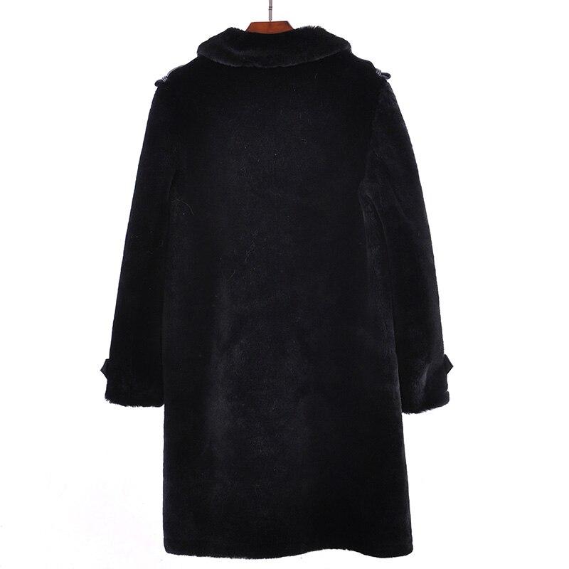 Manteau En Pour Office Réel Chaud Hiver Animal Femmes De Mouton Épaisse Lady Manches Automne Naturel Chaude Peau Beige Solide Complet Fourrure O4O8pqw