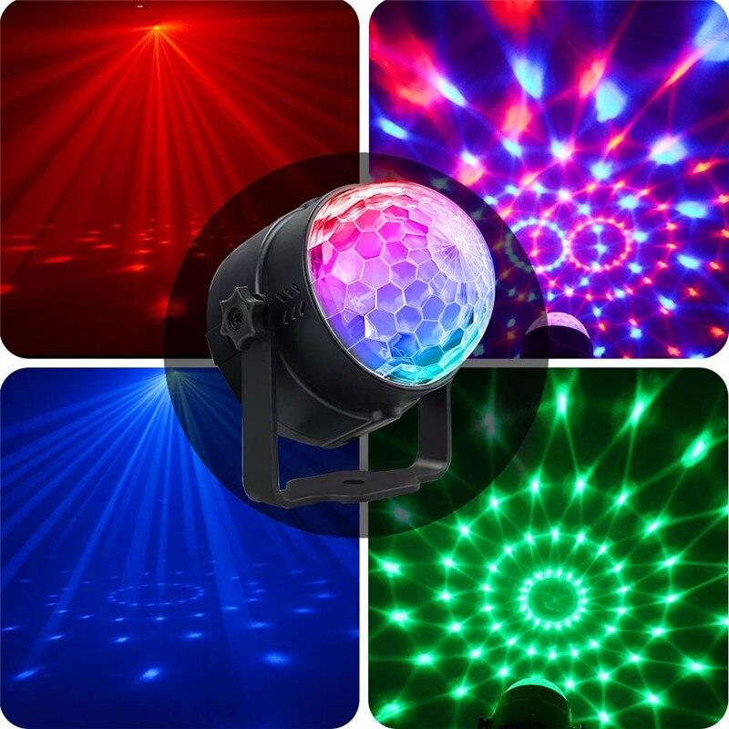 Dj Disco Party Lights RGB Lighting Magic Ball Moving Head Crystal Laser Stage Light Effect Dmx Voice Remote Lamp USB Lumiere KTV