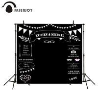 Theme Wedding Backdrops Blackboard For Photo Studio Wedding Allenjoy Chalk Background Photography Customized Size Name Date