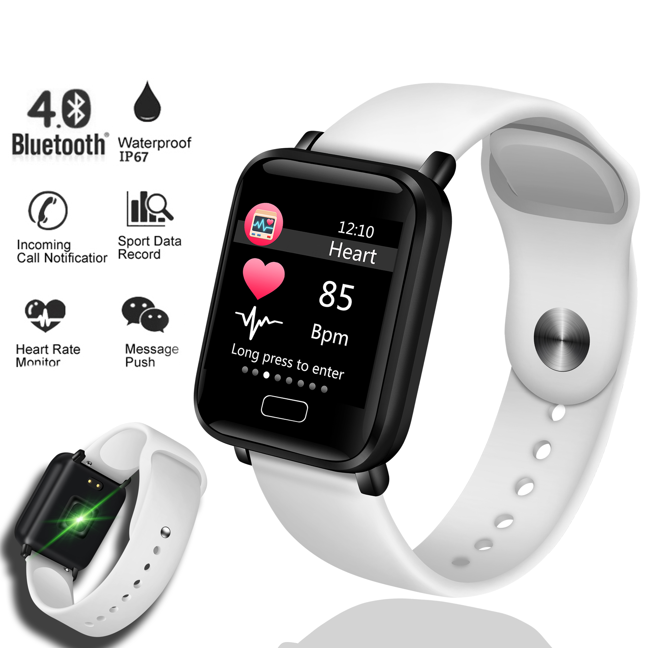 LIGE Smart Bracelet Women Men Waterproof Fitness Watch Heart Rate Blood Pressure Monitor Sport Smart Wristband For Ios Android