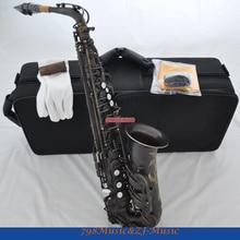 Профессиональный темный античный гравировальный саксофон-альт EB High F# импортные подушечки