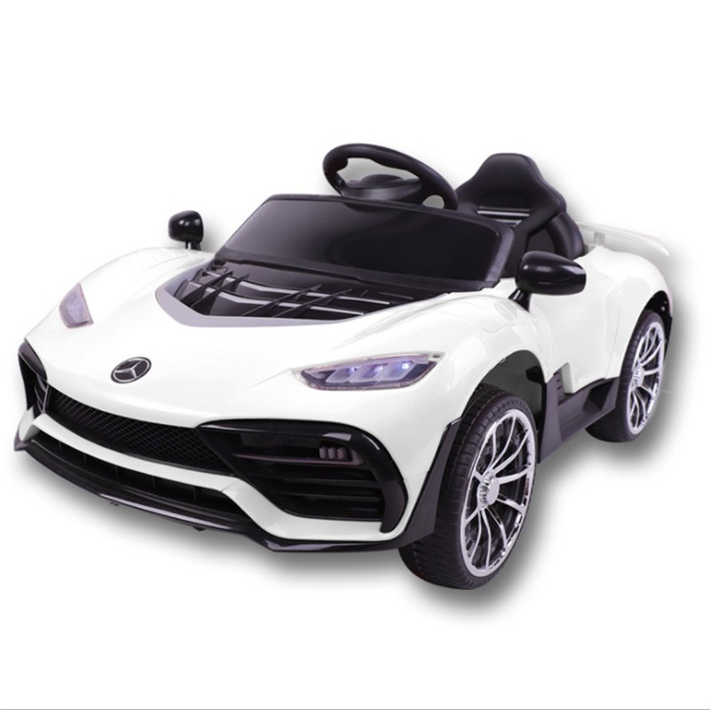 Baby Car Kids Four Wheel Electric Vehicle Car Bluetooth Remote Control With Swing Music Car Lights Kids Toys Can Sit People Car