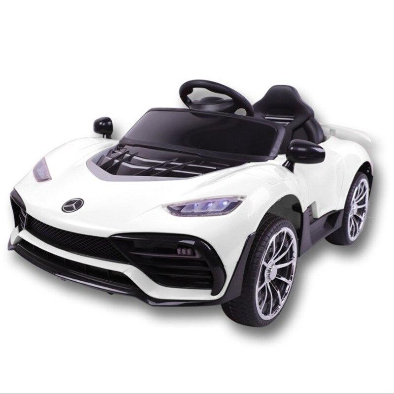 Voiture bébé enfants quatre roues véhicule électrique voiture Bluetooth télécommande avec balançoire musique voiture lumières enfants jouets peuvent s'asseoir personnes voiture