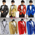 Paillette Male Master Sequins Dresses Stage Costumes Men Suit MC Host Clothing Singer Suits Blazer Show Jacket Outerwear W114