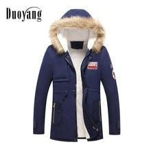 Parka coat men fashion 2018 Cotton warm fur Man Jacket casual outerwear winter clothes jacket men's coat ropa hombre de marca