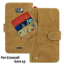 Vintage Leather Wallet Crosscall Core x3 5 Case Flip Luxury Card Slots Cover Magnet Stand Phone Protective Bags vintage leather wallet echo dune 5 case flip luxury card slots cover magnet stand phone protective bags