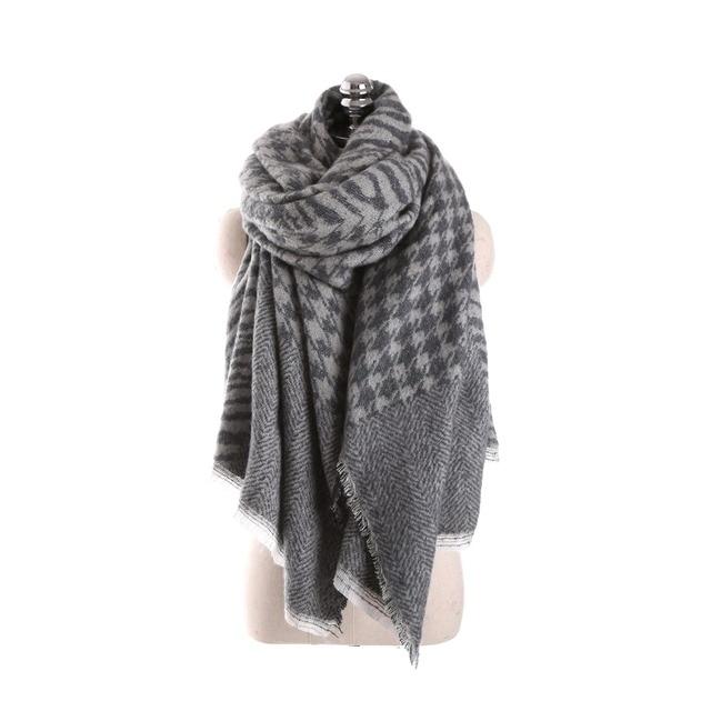 Lujo invierno cebra manta bufanda pashmina ponchos y CAPES bufanda ...