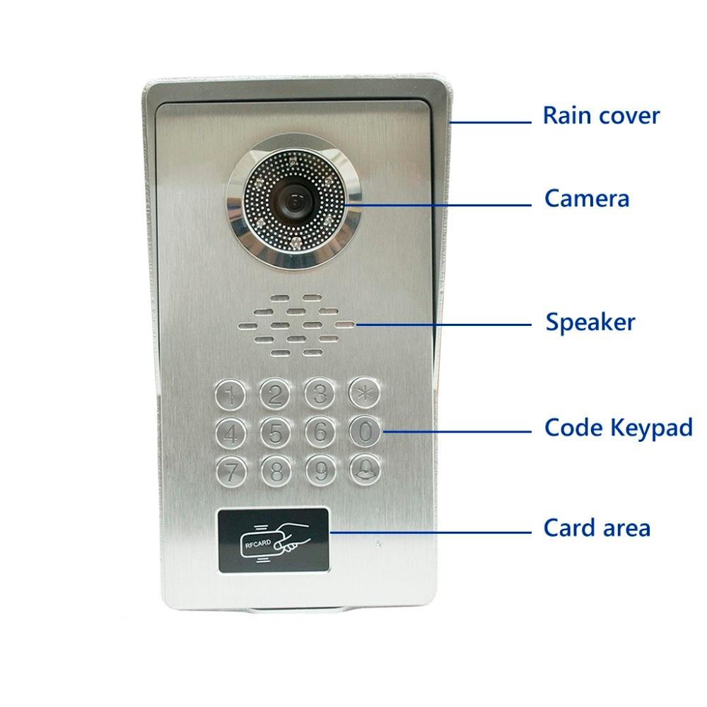 "LUXURY All Aluminum Alloy Night Vision Camera Video Door Phone Intercom Kit video doorbell RFID Keyfobs/Password 7"" LCD Screen-in Video Intercom from Security & Protection    2"