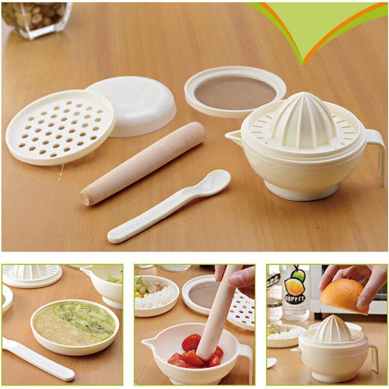 Шлифовальная соковыжималка многофункциональная детская пищевая машина шлифовальный стержень пластиковая ПП ложка-терка соковыжималка для шлифования овощей