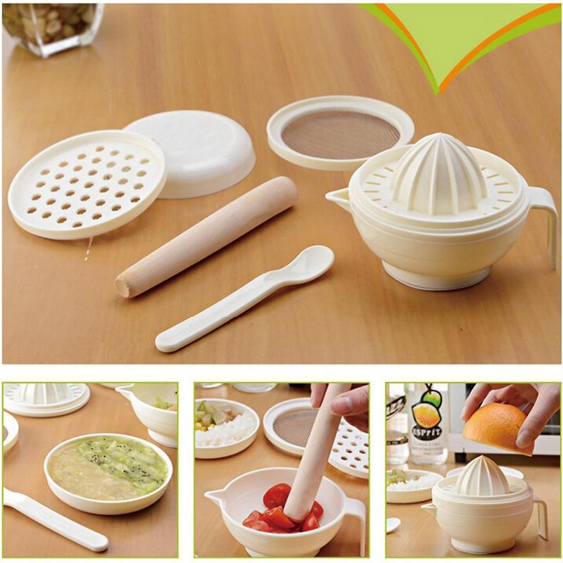 Grinder Juicer Multifunction Baby Food Masher Maker Grinding Rod Plastic PP Grinding Spoon Juicer Grinding Vegetable