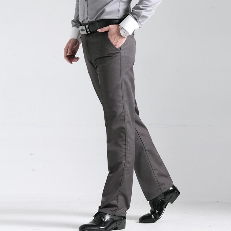 2017 men spring autumn trousers premium brand fashion business leisure Khaki Pants male grid work profession loose casual pants