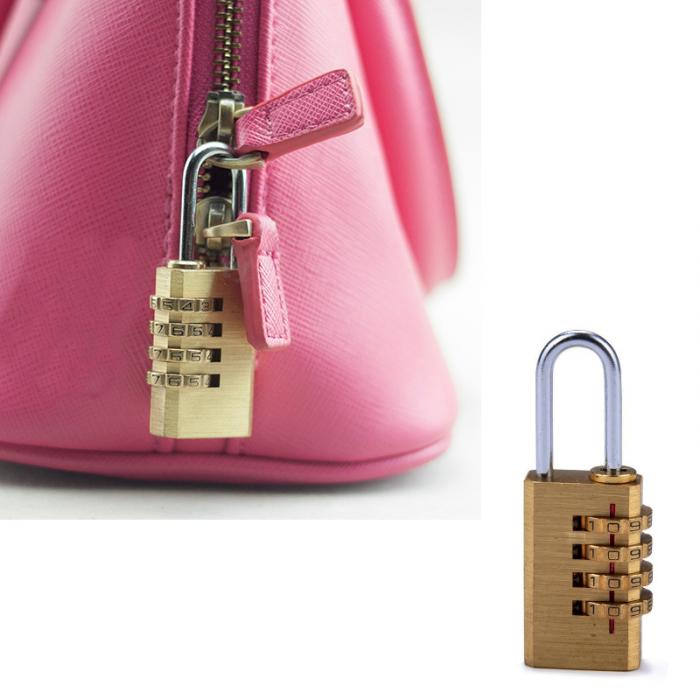 Mini 4 Digits Number Password Code Lock Combination Padlock Resettable For  Travelling Bag Door ALI88