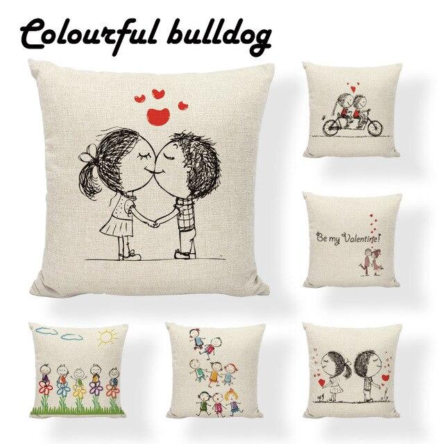 Custom Printed San Valentin Pillows Pillow Cushion Case Ethnic Pillow Cases  Game Decorativas Thanksgiving Throw Pillow Cover 66af7364c