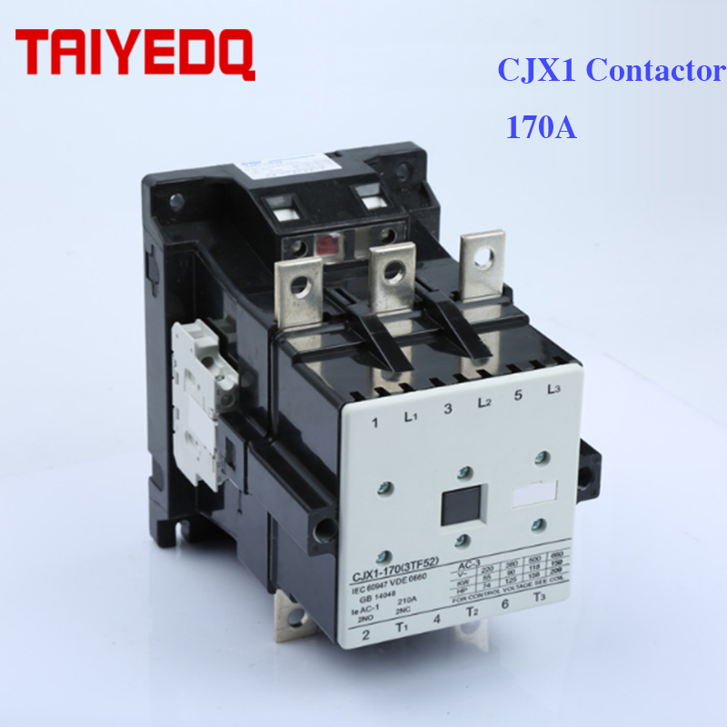 CJX1-170A AC contactor CJX1-170/22 3TF52  Electrical Magnetic contactor, 3Pole control contactor voltage 24V 220V 380V  2NO 2NC