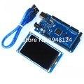 Frete grátis! 3.2 polegada TFT módulo de tela LCD Ultra HD 320X480 para Arduino + MEGA 2560 R3 Board com usb cabo