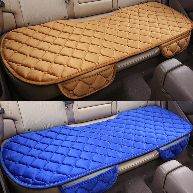 Mùa đông Ấm Áp Xe Seat Cover Lại Phía Sau Ghế Đệm Ngắn Sang Trọng Nhung Cotton Thoáng Khí Thoải Mái Phổ Xe Ghế Bảo Vệ Mat