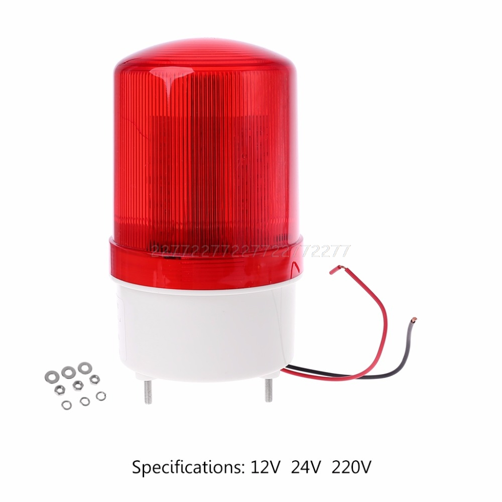 220V/12V/24V LED Alarm Light Warning Lamp Signal Buzzer Rotary Strobe Flash Siren Emergency Sound Illumination Hummer A27 19