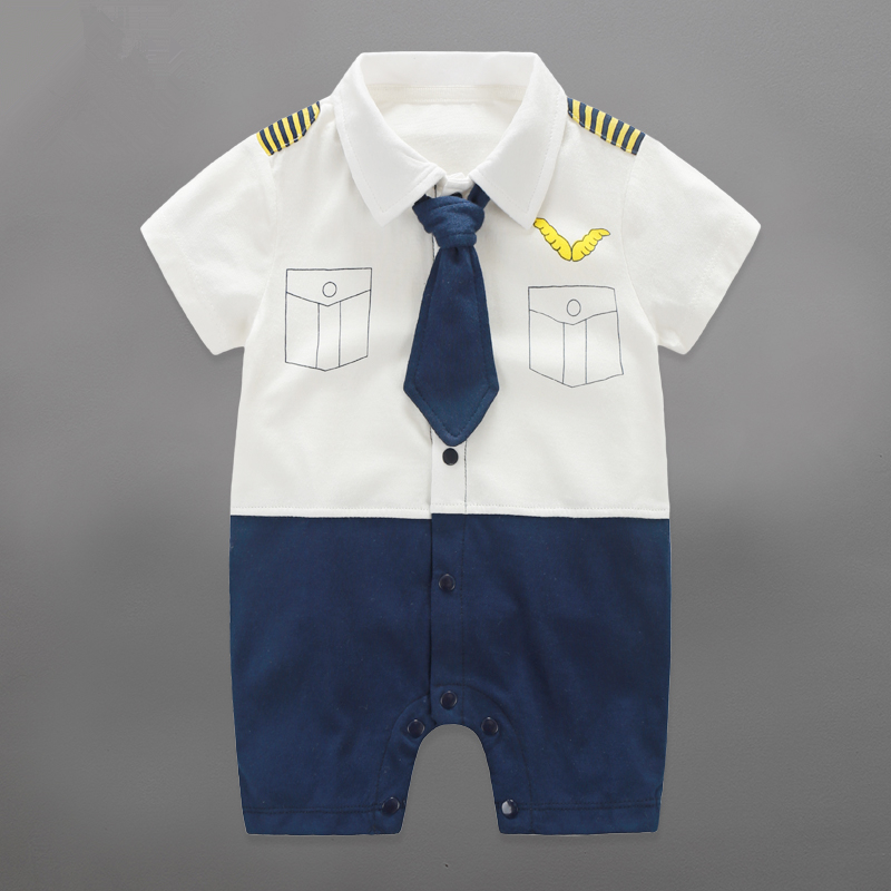 Baby Boy Rompers 100% Cotton Baby Boy Clothes Bow Tie Gentleman Baby Boys Romper 2017 Summer Roupas Bebe Toddler Kids Jumpsuits baby rompers o neck 100