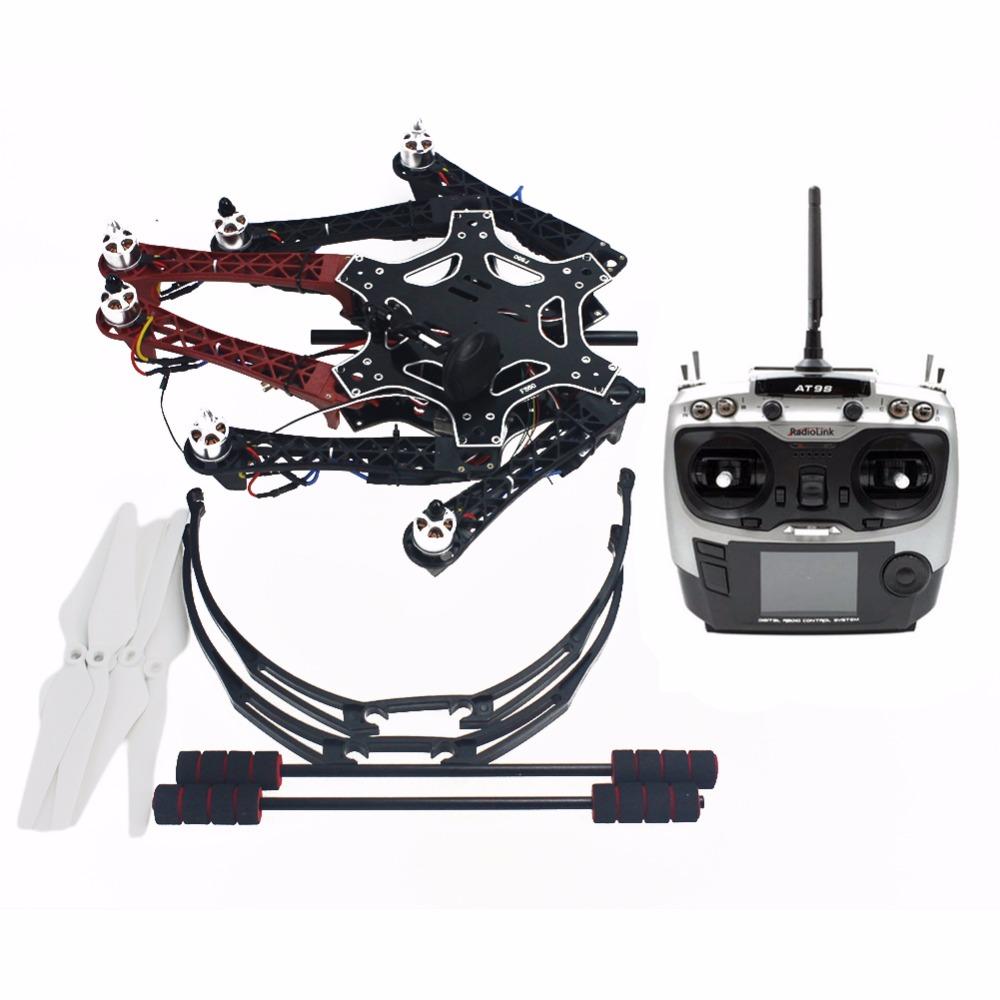 DIY Assembled F550 6-Aixs Kit with APM 2.8 Flight Controller GPS Compass with AT9S Transmitter No Battery / Charger No Gimbal