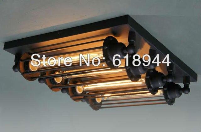 4 Lamps Amerikanischer Rustikale Vintage Deckenleuchte, E27 ...