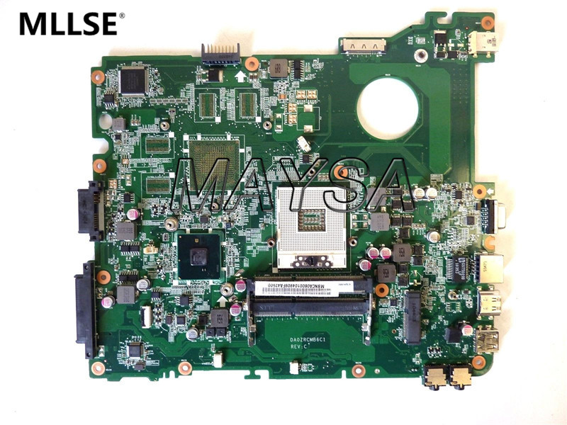 High quality MBNCA06001 DA0ZRCMB6C1 HM55 PGA989 DDR3 Main board Fit for ACER E732 E732Z Motherboard 100% Fully Tested laptop motherboard fit for acer aspire 3820 3820t notebook pc mainboard hm55 48 4hl01 031 48 4hl01 03m