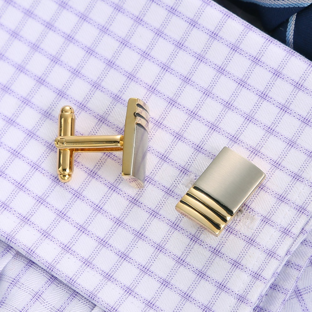 Cufflinks And Clips Mens Gold Cufflink Set Tie Pins For Men Cuff links Luxury Clasp Classic Gifts Jewelry Sleeve Wedding QiQiWu in Tie Clips Cufflinks from Jewelry Accessories