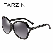 PARZIN New Arrival TR90 Women Polarized Sunglasses Hollow Big Frame Rhinestones Leg Fashion Sunglasses Eyewear Accessories  2017