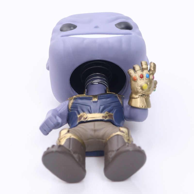 FUNKO POP Avengers 3: infinity War & 10 ซม. Miba THANOS ตัวเลขการกระทำพีวีซีของขวัญเด็กกล่อง