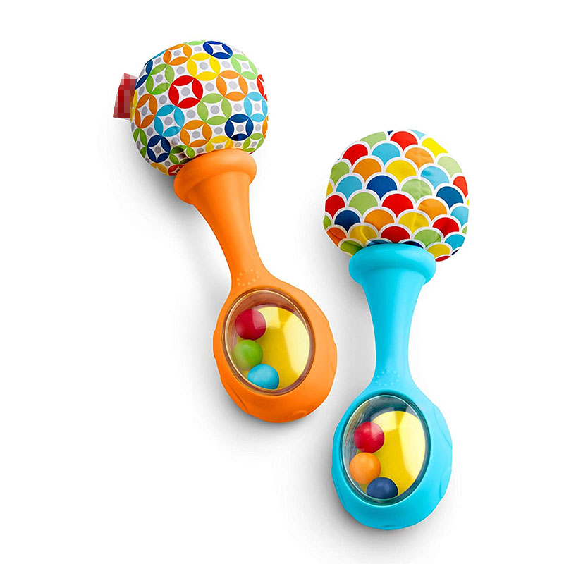 Ambitious 2 Pcs/set Childrens Rattles Toys Colorful Pattern Sound Rattles Silicone Toys Early Eaducational Toy For Toddler Boys Girls Baby & Toddler Toys Toys & Hobbies