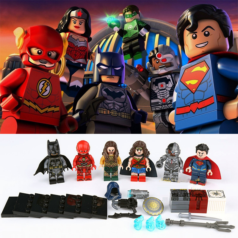 DC Justice League SuperHeroes mini figures Batman Superman Flash legos compatible minifigures model building blocks bricks toy футболка tommy hilfiger denim tommy hilfiger denim to013ewprh21