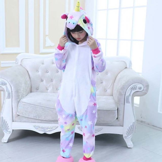 52c1be6c0 Crianças Pijama Unicórnio Kigurumi macacão