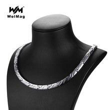 Женское магнитное ожерелье welmag Классическая цепь из титана