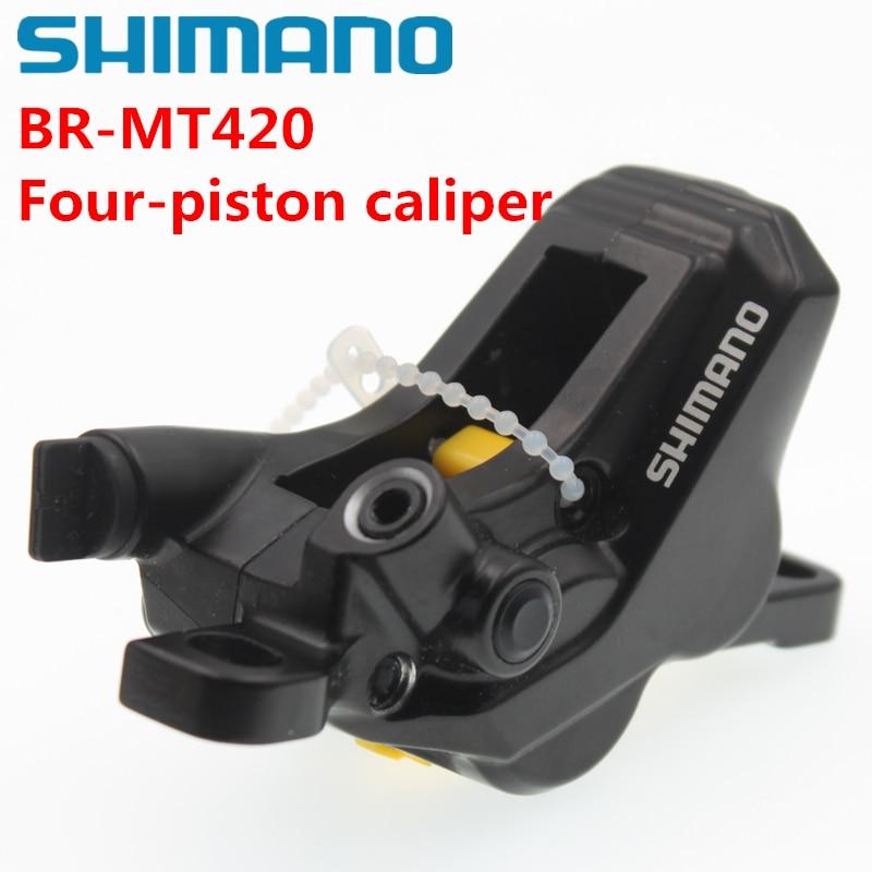 shimano Mountain Bikes Four piston BR MT420 caliper Hydraulic Disc Brake MT420 Four piston caliper
