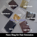 Free shipping nano ring Lead-free Non-nickel 1000pcs/lot,Blonde Nano Ring of smallest micro ring in the world for nano ring hair