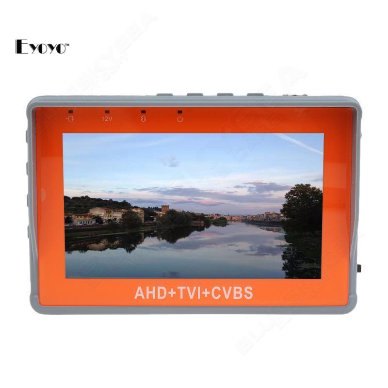ФОТО Eyoyo CCTV 1080P/720P TVI Camera Tester 4.3-Inch LCD Analog Video Test 12V/5V Power Output Cable TVI CCTV Tester