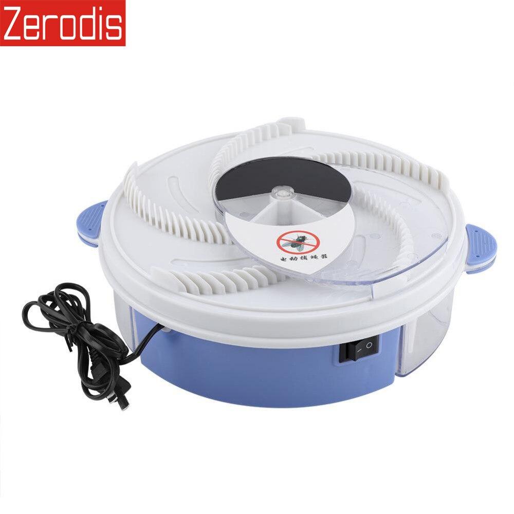 Eléctrico eficaz volar trampa dispositivo repelente de plagas con captura de comida placa giratoria casa repelente de mosquitos nos enchufe