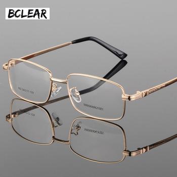 BCLEAR modne okulary klasyczne grube złocenie męskie nowe pełnoklatkowe okulary optyczne ramki modne oprawki do okularów S902 tanie i dobre opinie FRAMES Okulary akcesoria Stop Stałe 54mm 35mm 145mm
