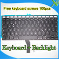 "Brand New German Deutsch QWERTZ Tastatur Keyboard+Backlight Backlit+screws For MacBook Air 13.3"" A1369 A1466 2010-2015 Years"
