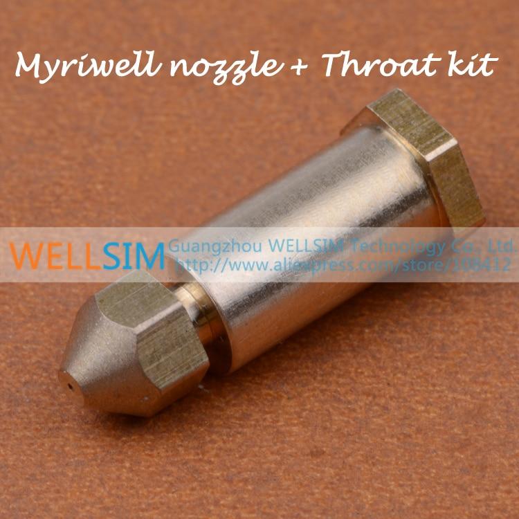 5Pcs Myriwell FORCEBOOK UltraPrint hotend Throat barrel + nozzle kit brass for 1.75 mm For 3D Printe