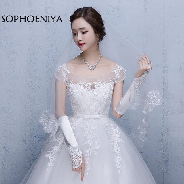 New Arrival White Ivory   Meter Lace Edge Bridal Veil  Cheap Wedding Accessories Veu De