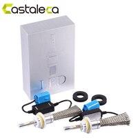 Castaleca 2X R3 Car LED Headlight Aluminum Headlamp Conversion Kit H7 H1 H3 H4 H11 H13