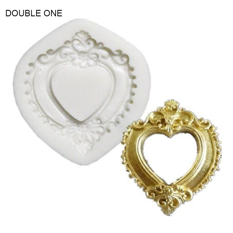 Double One PHoto Frames Mirror Silicone Mould FOR Jewelry Craft Resin Crystal