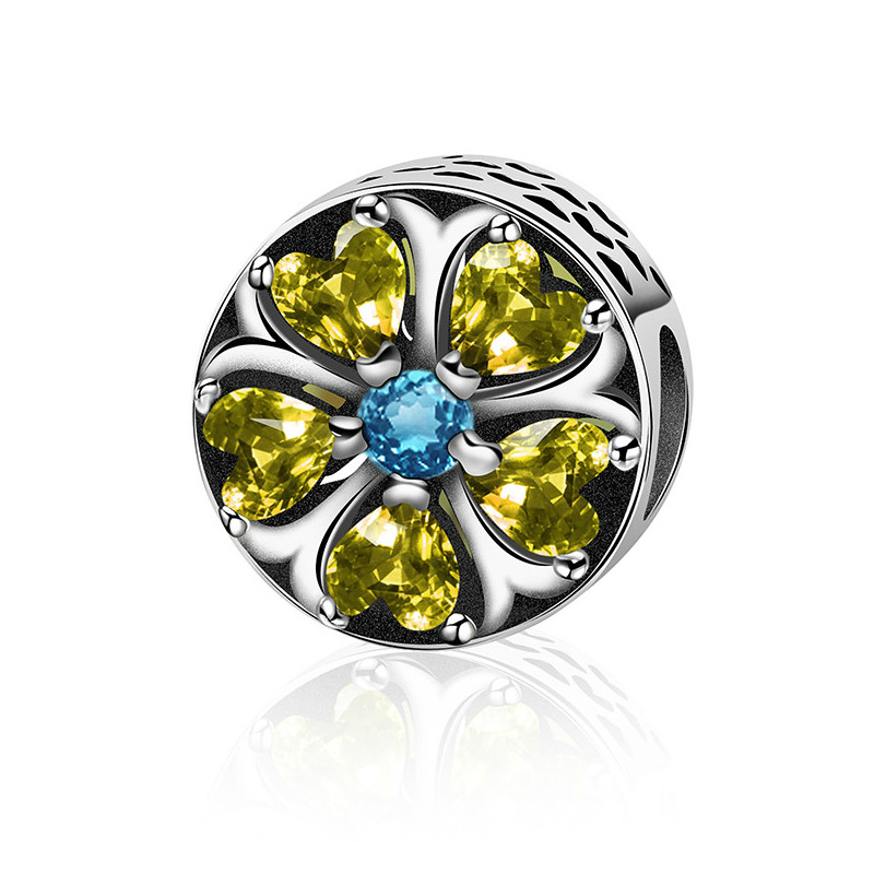 Original New 100% 925 Sterling Silver Charm Authentic Classic Heart Lemon Flower Fragrance Retro Elegant Women Bead Wedding Jewelry Gift Cool In Summer And Warm In Winter Beads