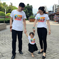 2017 summer BABY printing family pack couples Clothes short sleeve T-shirt children clothing mother daughter matching clothes