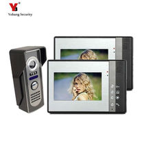 Yobang Security freeship Apartment/Family Video Door Phone video Intercom System Waterproof door intercom Camera with 2 Monitor